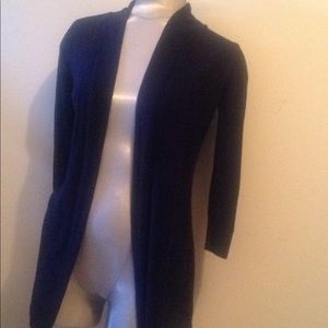 WHBM Navy Blue Express Fly Away Sweater